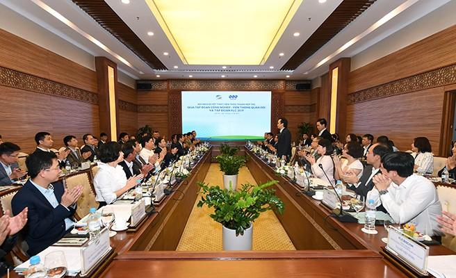 Hội nghị Sơ kết thực hiện thỏa thuận hợp tác giữa Viettel và FLC 2019