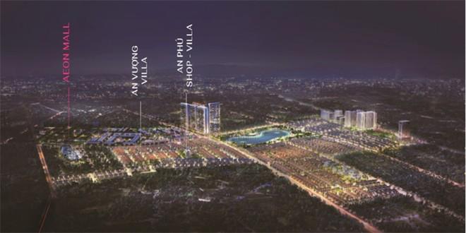 Biệt thự An Vượng Villa và An Phú shop-villa nằm ngay cạnh Aeon Mall Hà Đông