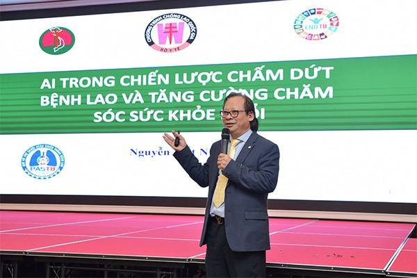 Ông Nguyễn Viết Nhung, Giám đốc Bệnh viện phổi Trung ương nhấn mạnh công nghệ góp phần quan trọng trong mục tiêu chấm dứt bệnh lao vào năm 2030