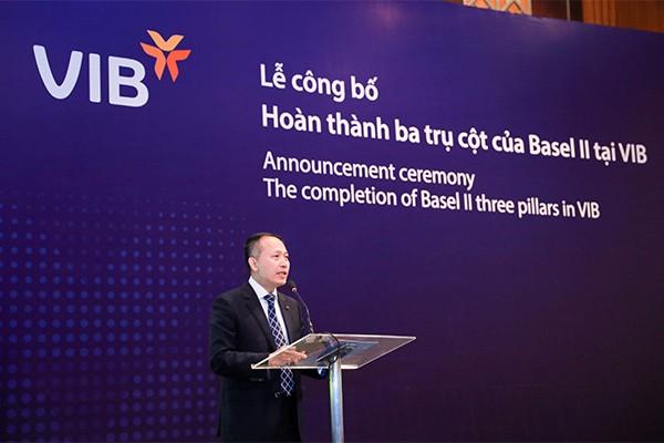 Ông Hàn Ngọc Vũ – Tổng Giám đốc VIB phát biểu