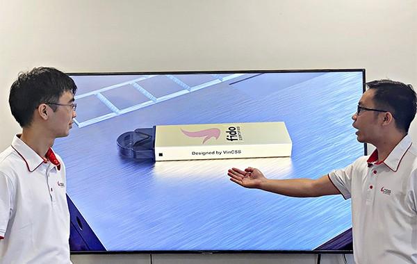 Thiết kế mẫu sản phẩm VinCSS FIDO2 Authenticator phiên bản USB Touch.