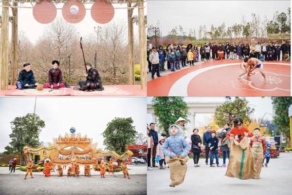 """Các hoạt động dân gian mang đậm chất Tết cổ truyền được tổ chức xuyên Tết lại lễ hội """"Đào Phúc Lộc"""", Vinhomes Ocean Park"""