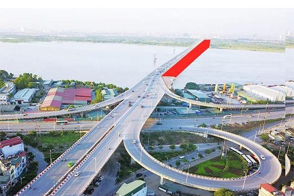 """Cầu Vĩnh Tuy giai đoạn 2 cùng nhiều công trình giao thông sắp khởi công hứa hẹn sẽ giúp người dân có thể tiếp cận với """"thành phố biển hồ"""" Vinhomes Ocean Park"""