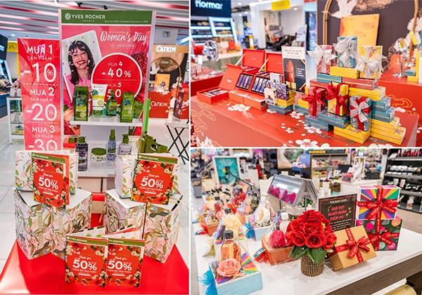 """Các nhãn mỹ phẩm tại Vincom đã """"lên kệ"""" nhiều set quà tặng xinh xắn có thể đem tặng ngay"""