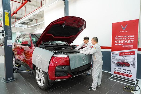 Các xưởng dịch vụ của VinFast đều được trang bị các máy móc, thiết bị hiện đại tiêu chuẩn châu Âu, đảm bảo đáp ứng mọi nhu cầu về bảo dưỡng, sửa chữa xe của khách hàng.
