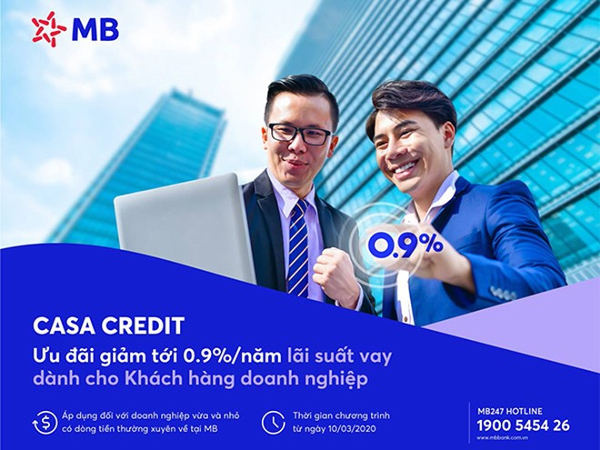 Casa Credit - chương trình ưu đãi lãi suất vay của MB dành cho khách hàng doanh nghiệp mùa Covid ảnh 1