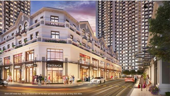 Tổ hợp shop downtown đa phong cách nằm ngay lõi phân khu Sapphire 2