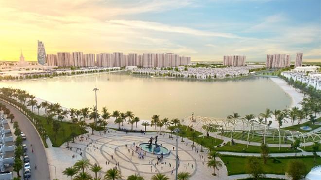 Sự kiện mở bán tòa tháp S1.08 sẽ được tổ chức bên bờ cát trắng của hồ Ngọc Trai rộng 24.5ha