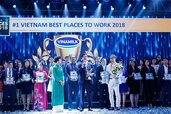 Vinamilk dẫn đầu bảng xếp hạng 100 nơi làm việc tốt nhất Việt Nam năm 2018