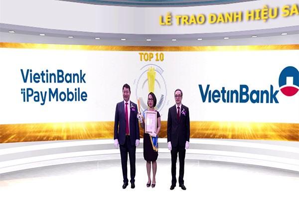 VietinBank iPay Mobile là sản phẩm duy nhất đến từ ngân hàng lọt Top 10 Sao Khuê Việt Nam 2020