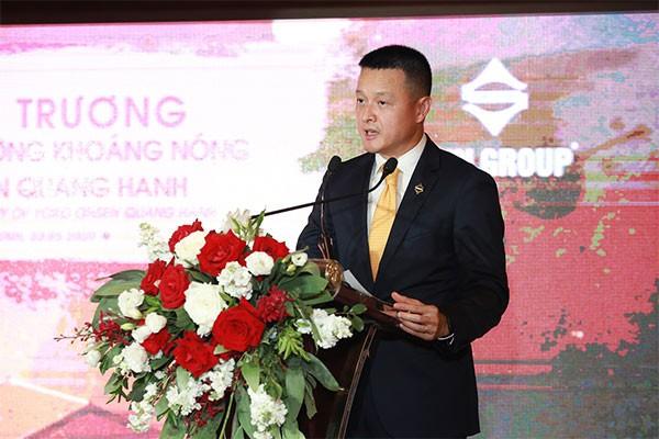Chủ tịch HĐQT Tập đoàn Sun Group, ông Đặng Minh Trường phát biểu tại lễ khai trương Yoko Onsen Quang Hanh