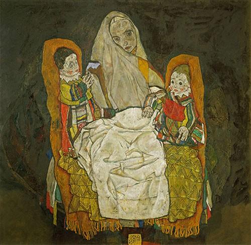 Tác phẩm Mẹ và hai con của Egon Schiele
