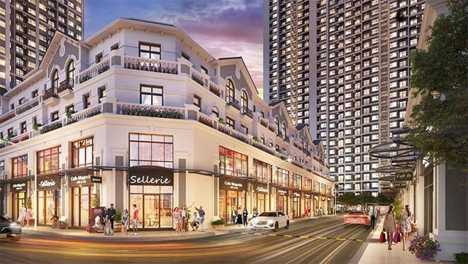 Tổ hợp shop downtown đa phong cách nằm ngay lõi phân khu Sapphire