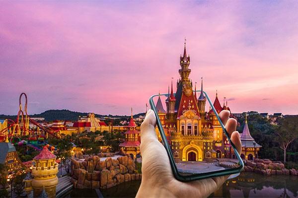 Khám phá công viên chủ đề hàng đầu châu Á trên nền tảng thực tế ảo