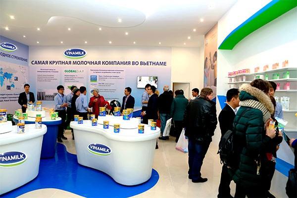 Từ năm 2015, Vinamilk đã tiến hành các hoạt động giới thiệu sản phẩm, xúc tiến thương mại tại Nga