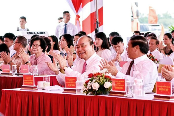 Thủ tướng Nguyễn Xuân Phúc tại lễ khởi công Công viên chủ đề lớn nhất Việt Nam.