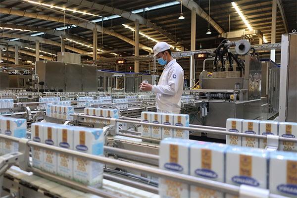 Dây chuyền sản xuất hiện đại tại nhà máy của Vinamilk, đảm bảo chất lượng sản phẩm theo các tiêu chuẩn quốc tế