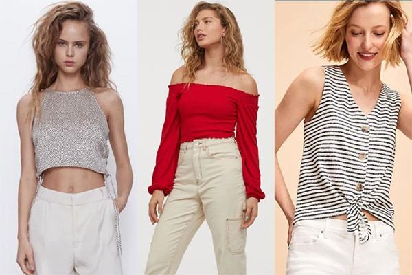 Các mẫu áo lửng rất thích hợp mặc đi biển từ Zara, H&M, Old Navy đang được giảm giá tới 50%++, chỉ còn từ 50.000VNĐ.