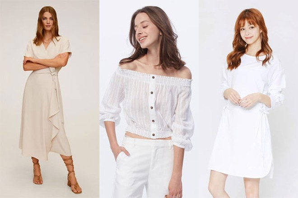 Bạn có thể thoả sức mix&match trang phục mùa hè với các items màu trắng đang được giảm sâu tới 70% từ Mango, CC Double O và H:CONNECT, đa dạng từ váy điệu đà tới croptop xinh xắn.