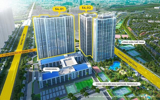 S4.02 nằm kế cận Vinschool - trường phổ thông liên cấp hàng đầu tại Việt Nam