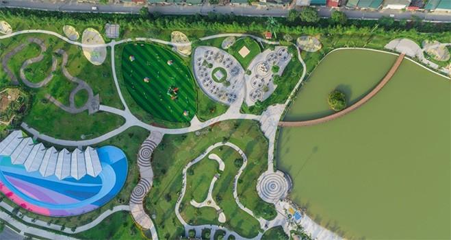 Tầm nhìn bao quát bộ 3 công viên liên hoàn quy mô 16,3ha