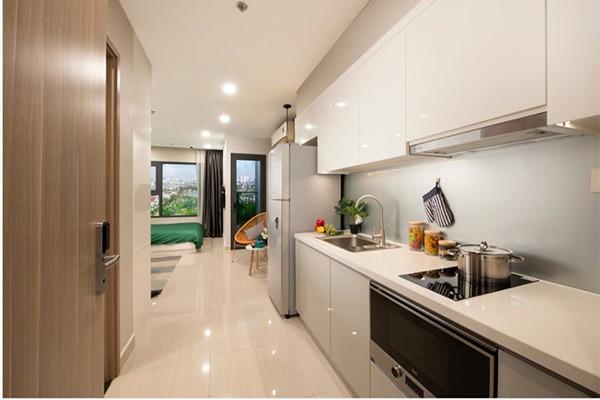 Căn studio với thiết kế nhỏ gọn, linh hoạt, đủ đầy tiện nghi, một khởi đầu hoàn hảo cho người trẻ độc lập