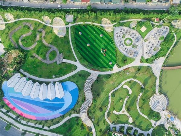 Bộ 3 công viên liên hoàn xanh mát đã dần đi vào hoạt động từ tháng 9/2019 (Ảnh công viên trung tâm Central Park)