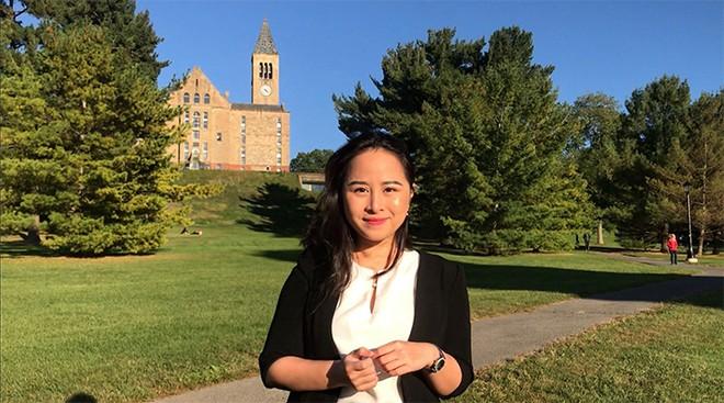 """Trà Giang là 1 trong những sinh viên Cornell sẽ tiếp tục theo học chương trình """"Study Away"""" tại"""