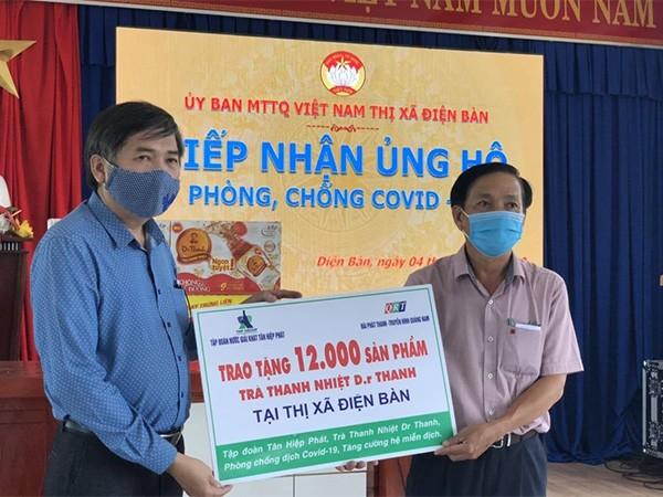 Trà Thanh Nhiệt Dr Thanh tiếp sức cho đồng bào, chiến sĩ tại Quảng Nam ảnh 1