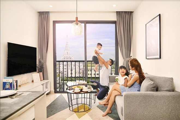 Các căn hộ tại S2.10 & S2.17 được hoàn thiện đầy đủ nội thất liền tường và đồ rời