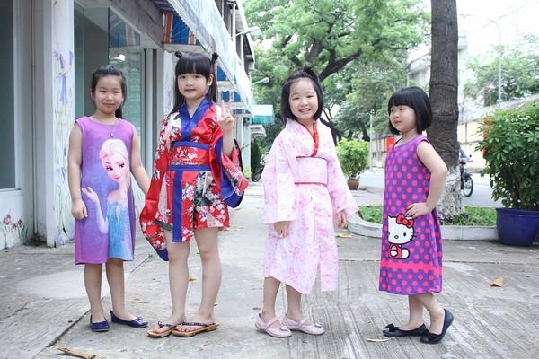 Á quân Vietnam's got talent Bích Ngọc đáng yêu trong trang phục kimono ảnh 2