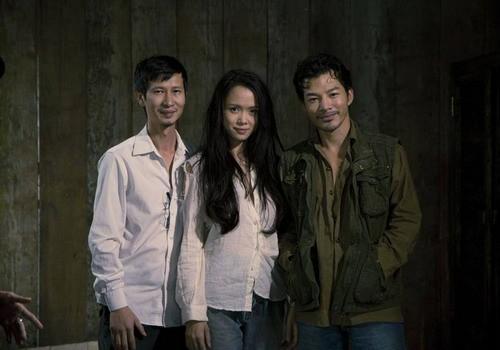 Đạo diễn Nguyễn Phan Quang Bình, Vũ Ngọc Anh, Trần Bảo Sơn (từ trái qua)