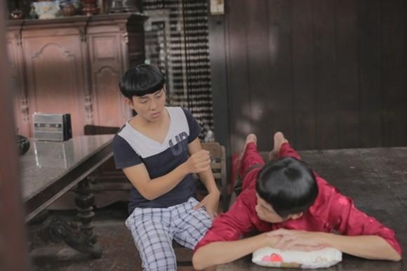 """Hoài Lâm hài hước với kiểu tóc """"đầu nấm"""" trong phim Tết ảnh 9"""