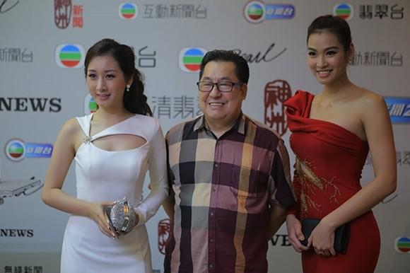 Vương Thu Phương, Diệu Huyền dự sinh nhật đài TVB Hong Kong ảnh 7