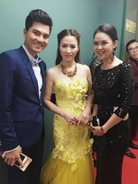 Vương Thu Phương, Diệu Huyền dự sinh nhật đài TVB Hong Kong ảnh 1