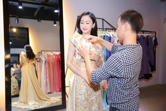 Hà Thu hoàn tất trang phục dự thi Hoa hậu Liên lục địa 2015 ảnh 4
