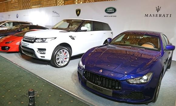 Một số dòng xe được trưng bày trong buổi giới thiệu về sự kiện sắp tới