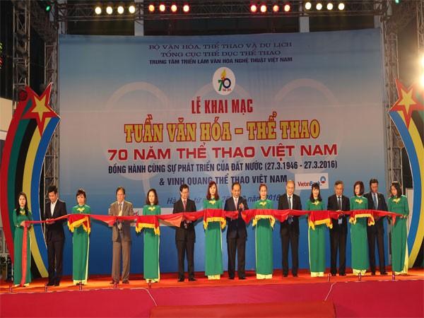 Khai mạc Tuần Văn hóa-Thể thao 70 năm thể thao Việt Nam ảnh 1