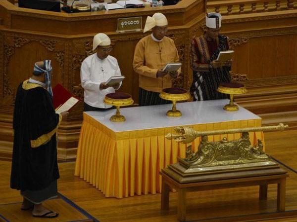 Tân Tổng thống Myanmar tuyên thệ nhậm chức ảnh 1