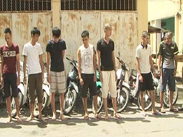 Các đối tượng trong ổ nhóm chuyên trộm cắp và tài sản bị thu giữ