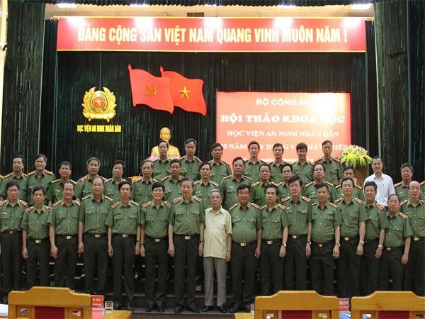 Thượng tướng Tô Lâm, Ủy viên Bộ Chính trị, Bộ trưởng Bộ Công an cùng các đại biểu tham dự hội thảo
