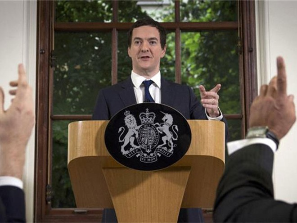 Bộ trưởng Tài chính Anh George Osborne cho rằng kinh tế nước này đủ sức đối mặt với thử thách