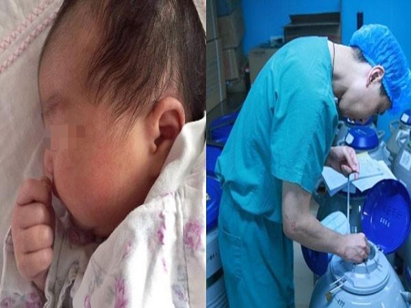 Bé gái ra đời từ phôi đông lạnh 18 năm
