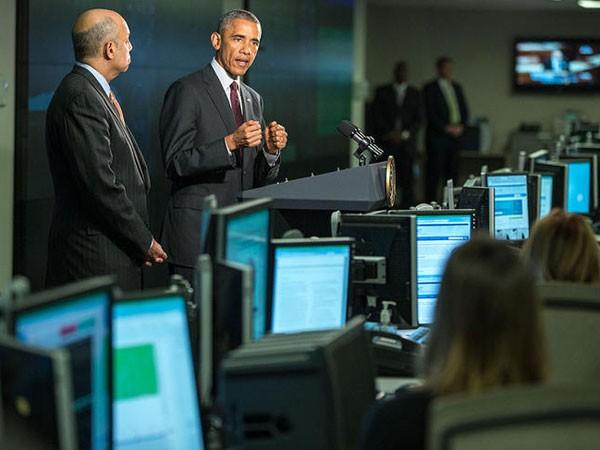 Tổng thống Barack Obama tới thăm một trung tâm an ninh mạng thuộc Bộ An ninh Nội địa Mỹ