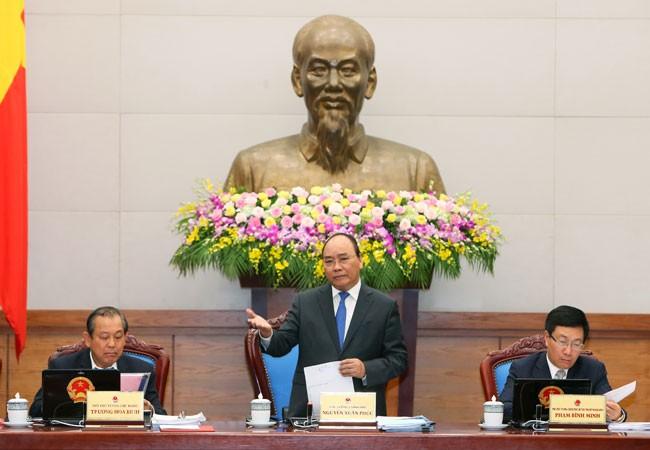 Thủ tướng Nguyễn Xuân Phúc phát biểu khai mạc phiên họp