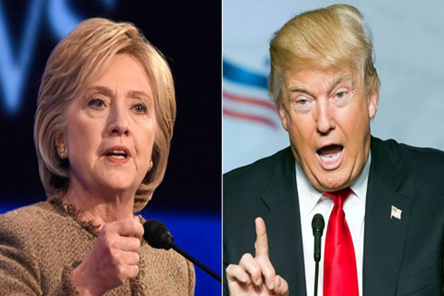 Bà Hillary Clinton (trái) và ông Donald Trump (phải)