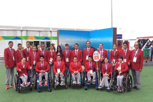 Các thành viên đoàn Việt Nam sẵn sàng đoạt huy chương Paralympic Rio