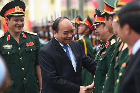Thủ tướng Nguyễn Xuân Phúc đánh giá cao những thành tích mà cán bộ, chiến sĩ Quân khu 3 đạt được trong thời gian qua