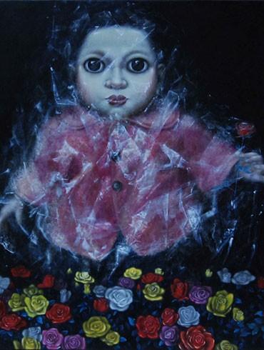 """Tác phẩm sơn dầu """"Hồi sinh"""" của họa sỹ Lưu Tuyền"""