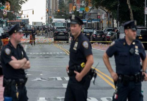 Cảnh sát phong tỏa hiện trường vụ khủng bố ở New York khiến 29 người bị thương